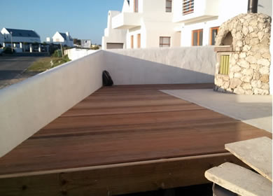 New wooden deck at Paternoster house