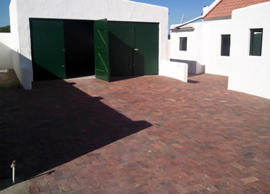 boundary walls paving and septic tank in port owen
